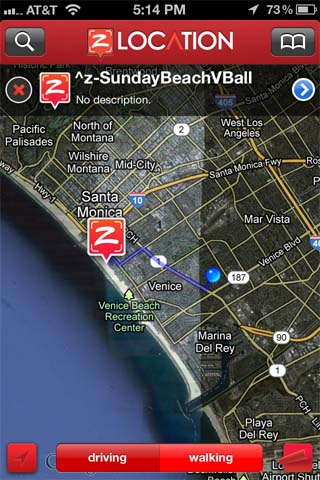 Directions zLocation iPhone